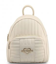 Love Moschino Light Brown Logo Medium Backpack