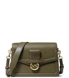 Michael Kors Olive Jessie Medium Shoulder Bag