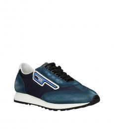 Prada Blue White Vintage Sneakers