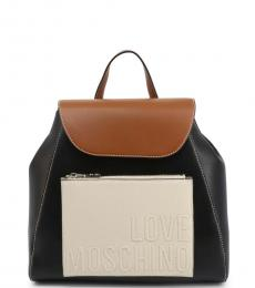 Love Moschino Black Logo Small Backpack