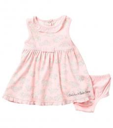 Calvin Klein Baby Girls Pink Floral Dress