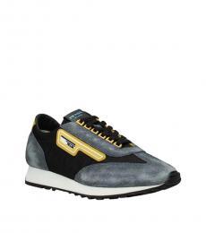 Prada Grey Mustard Vintage Sneakers
