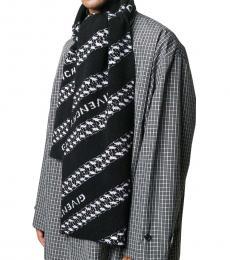 Givenchy Black-White Logo Scarf