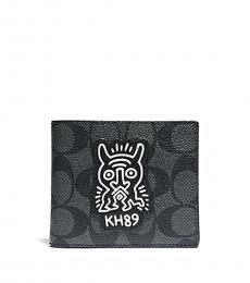 Coach Charcoal-Black Keith Haring 3-In-1 Wallet