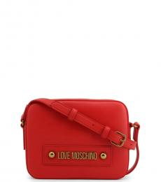 Love Moschino Red Box Solid Medium Crossbody