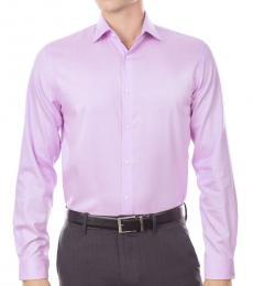 Pink Regular Fit Airsoft Stretch Dress Shirt