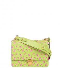 Prada Green Printed Small Shoulder Bag