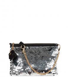 Dolce & Gabbana Silver Paillette Small Shoulder Bag