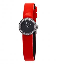 Christian Dior Orange Mini D Mother Of Pearl Watch