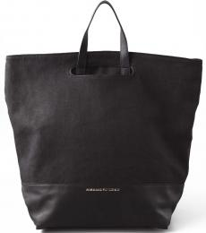 Black Alpha Large Tote