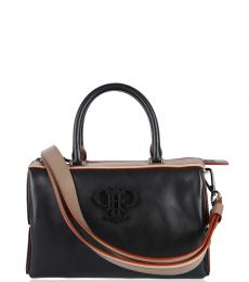 Black Iconic Small Satchel