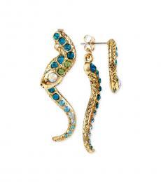 Metal Pave Crystal Snake Magical Earrings