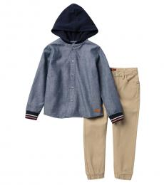 7 For All Mankind 2 Piece Hoodie/Pants Set (Baby Boys)