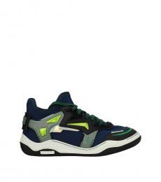Lanvin Blue Fabric Sneakers