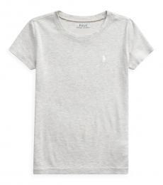 Ralph Lauren Girls Light Grey Short Sleeve T-Shirt