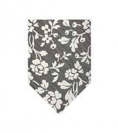 Black Nico Floral Tie