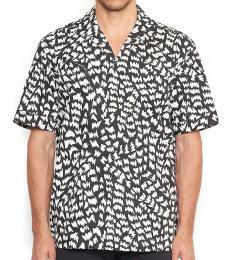 Black White Memphis Printed Shirt
