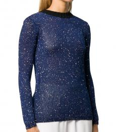 Blue Fleck Knitted Top