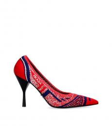 Prada Red Mouline Resort Heels