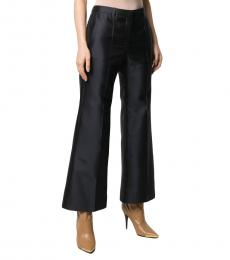 Givenchy Navy Blue Wool Blend Silk Trouser