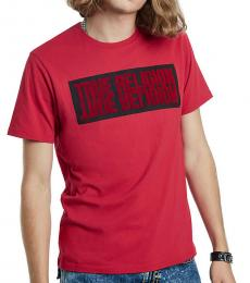 Ruby Red Mirror Logo T-Shirt