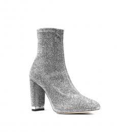 Silver Glitter Mandy Boots