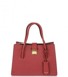 Red Solid Small Satchel