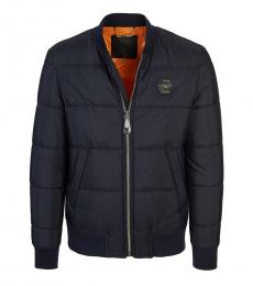 Philipp Plein Navy Blue Logo Jacket