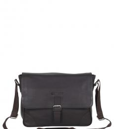 Ben Sherman Brown Premium Large Messenger Bag