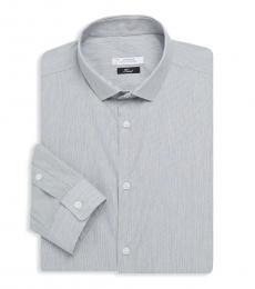 Versace Collection Light Blue Striped Cotton Dress Shirt