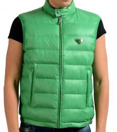 Prada Dark Green Down Full Zip Vest
