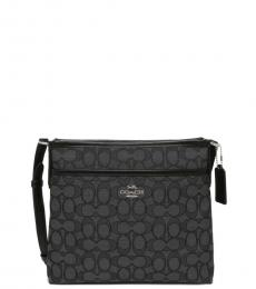 Coach Black File Medium Crossbody