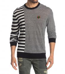 Diesel Black Mircoxx Striped Sweater