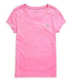 Ralph Lauren Girls Baja Pink Cotton-Modal T-Shirt