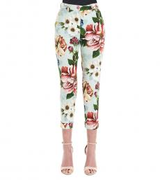 Dolce & Gabbana Multi color Floreal Print Drill Pants