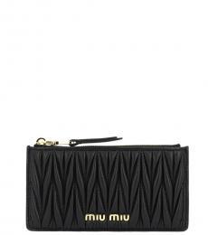 Miu Miu Black Logo Wallet