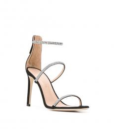Giuseppe Zanotti Black Leather Crystal Heels