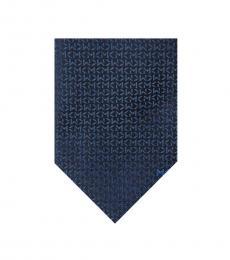Navy Bold Logo Repeat Tie