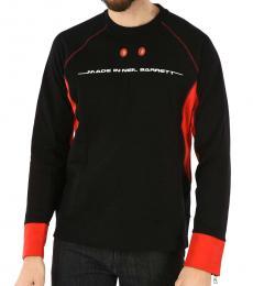 Neil Barrett Black Round Neck Sweatshirt