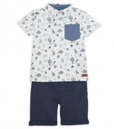 7 For All Mankind 2 Piece Shirt/Shorts Set (Little Boys)