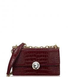 Violet Crystal Small Shoulder Bag