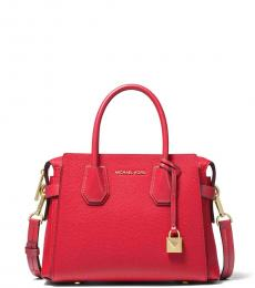Michael Kors Bright Red Mercer Belted Small Satchel