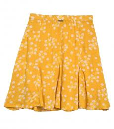 Billabong Yellow Floral Mini Skirt