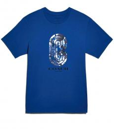 Sapphire Camo Retro Graphic T-Shirt