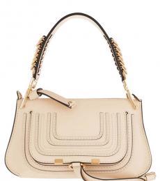 Chloe Beige Marcie Medium Shoulder Bag
