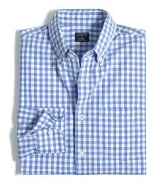 Blue Gingham Regular Flex Shirt
