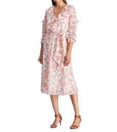 Ralph Lauren Multi color Floral Ruffled Dress