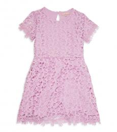 BCBGirls Girls Orchid Lace Flare Dress