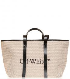 Off-White Beige Commercial Large Tote