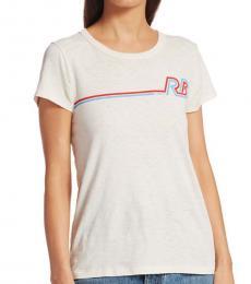 Rag And Bone Marscapone Racer Rib Cotton T-Shirt